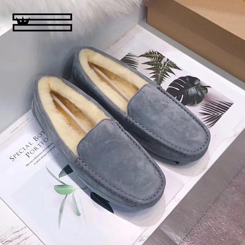 SHUANGGUN Men Casual Shoes Fashion Men Shoes Genuine Leather Men Loafers Moccasins Slip On Flats Male Driving Shoes Size 39-44