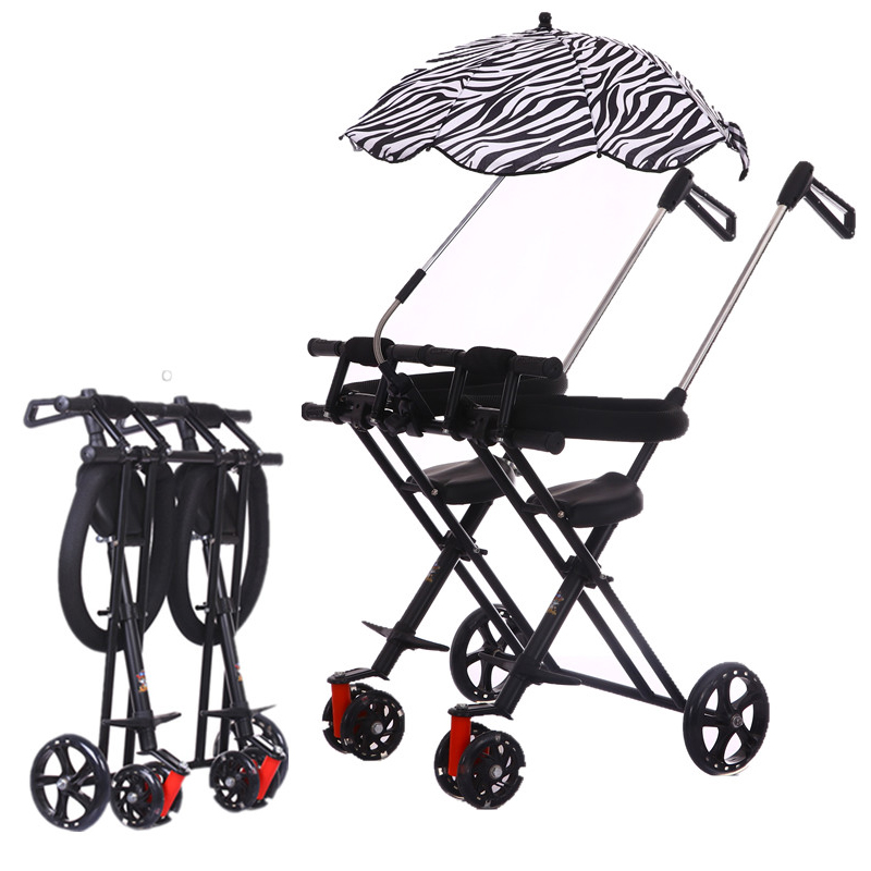 Light Weight Twin Baby Stroller Big Wheel Double Seats Push Trolley Children Twin Travel Tricycle Infant Easy Fold Baby Carriage