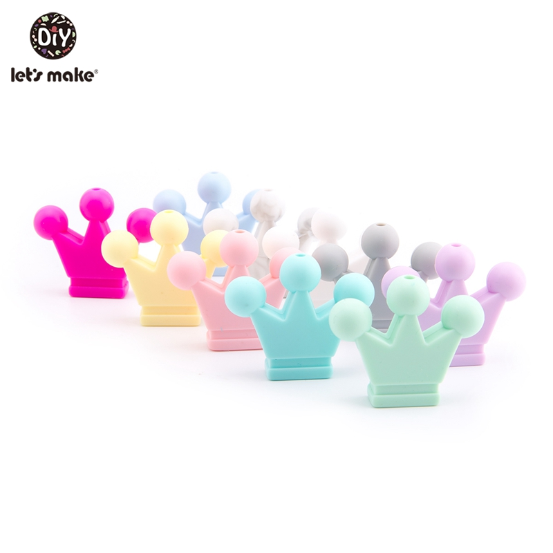 Let'S Make 20pc Silicone Baby Teether Candy Color Silicone Teething Crown Small Infant Baby Toys Newborn Gift For Kids Teethers