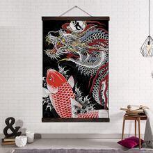Настенная живопись на холсте принты и плакаты Свиток подвесной