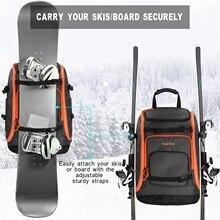 Clothing Ski-Boot-Bag Skis-Backpack Storage-Boots Helmet with Adjustable Waterproof 50L