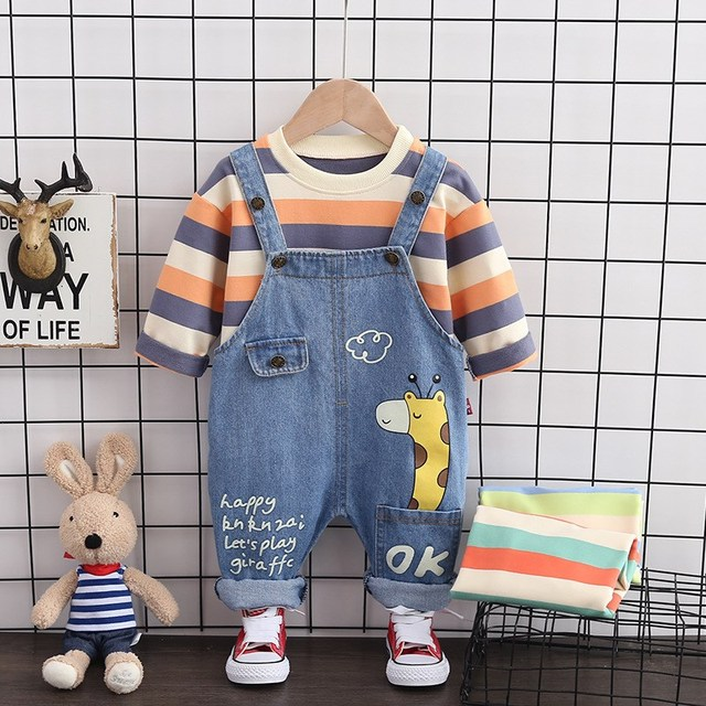 Baby Boy Spring Stripe Clothes Outfit Sets