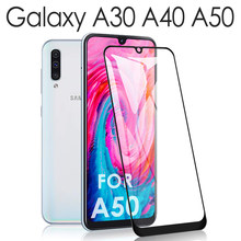 for Samsung Galaxy A50 A30 A40 Shielding Protector Samsung Gaxaly 30s 40s 50s A10 a20 a70 Glaxay Tremp Temperature Glas 9H Film(China)