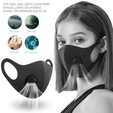 Czarna maska przeciwpyłowa Pm2 5 filtr oddechowy usta twarzy maski na usta wielokrotnego użytku osłona na usta Anti Fog Haze Respirator mężczyźni kobiety #3 tanie tanio CN (pochodzenie) NONE Anti-dust Breathable Filter Non-Woven Face Filter Anti Infection Masker M ask Facemask Masque Activated Carbon Filters