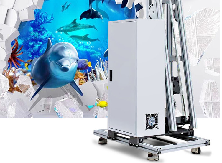 Photo Print For 3D Wall Plastering Machine Vertical Wall Canvas Printing Machine