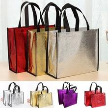 Женская многоразовая сумка для покупок, Большая вместительная Холщовая Сумка для путешествий, сумки для хранения с лазерным блеском, женская сумка, сумка из холста для продуктов, эко-сумка