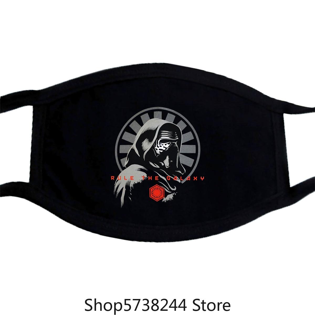 Star Kylo Ren Rule The Galaxy Rise Of Skywalker Black Men Mask Washable Reusable Mask