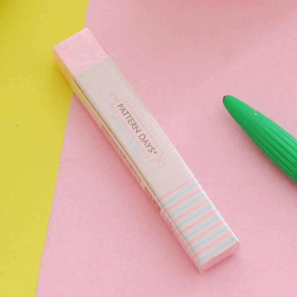 Borracha de borracha bonito da flor do coração do kawaii borracha adorável lápis da listra para o presente das crianças criativo coreano artigos de papelaria novidade artigo