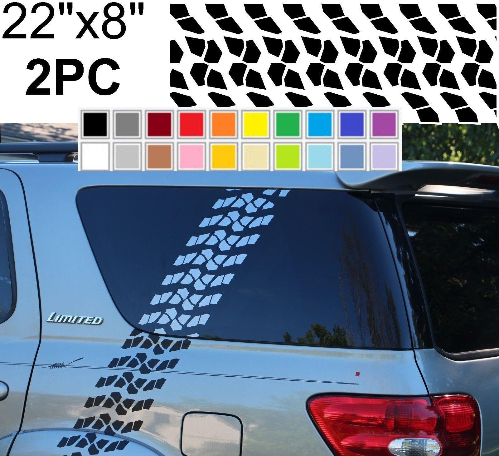 "Car Pickup SUV Back Rear Window 22/"" x 65/"" Decal Vinyl Sticker Blue Horror Skull"