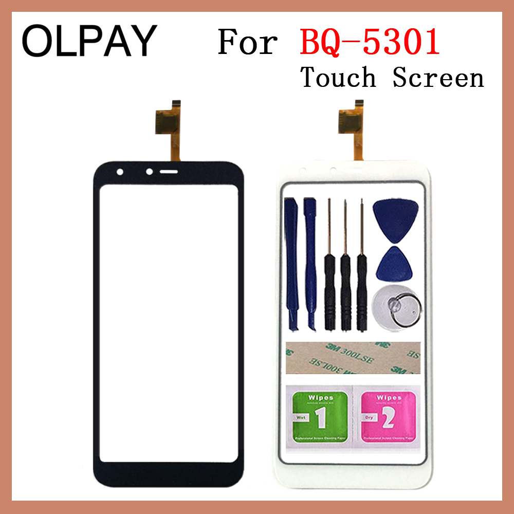 OLPAY 5.34'' TouchScreen For BQ BQ-5301 Strike View BQ 5301 Touch Screen Glass Digitizer Panel Lens Sensor Glass Repair