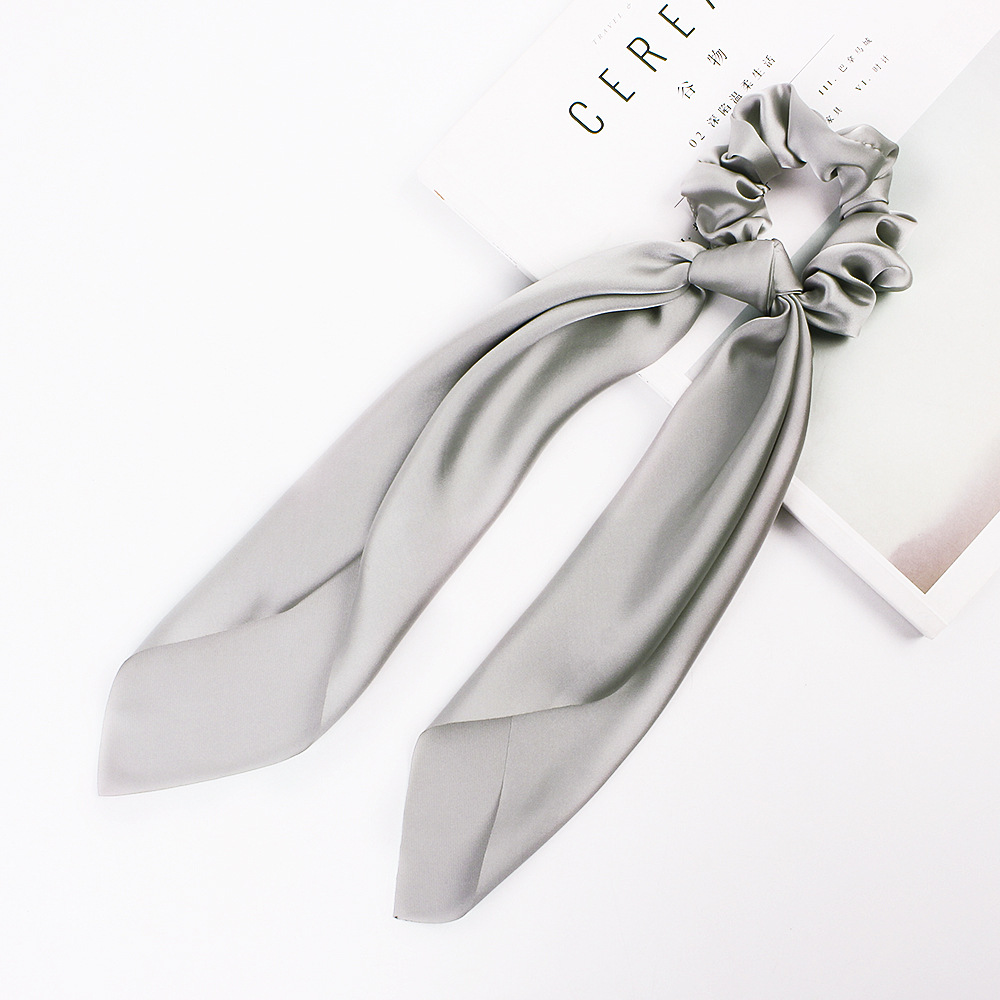 Hb3d6fa7f262e4621bc8fcfd6dbce68faP - Fashion Silk Satin Summer Ponytail Scarf Stripe Flower Print Ribbon Hairbands Hair Scrunchies Vintage Girls Hair Accessoires