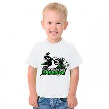 Детская футболка для мотокросса, с мультяшным принтом