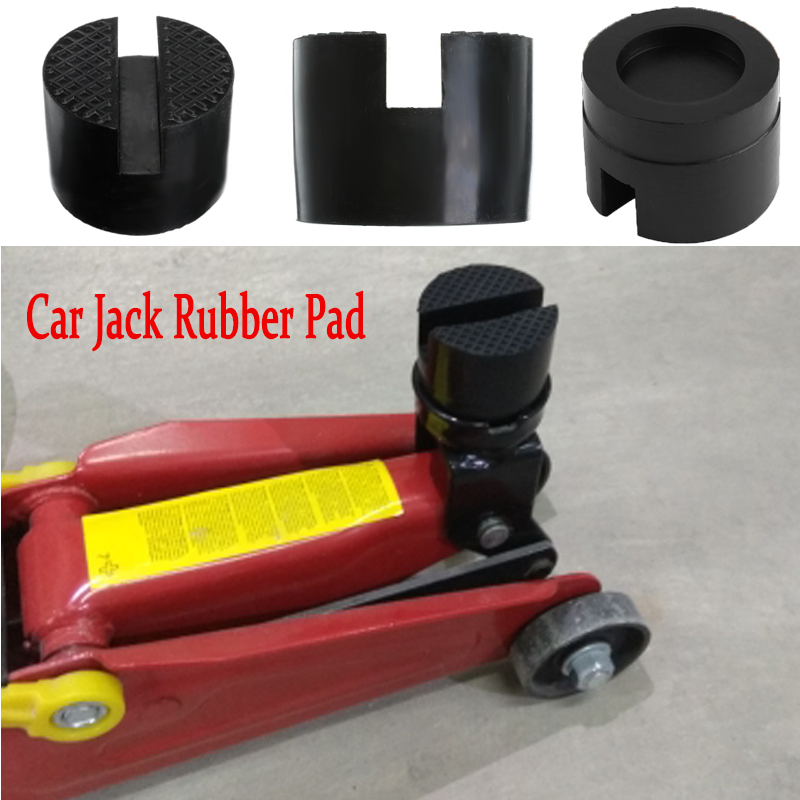 Car Lift Jack Stand Rubber Pads Jack Pad Disc Hydraulic Jack Black Disk Jack Stand Black Rubber Slotted Floor Pad Head Skid New