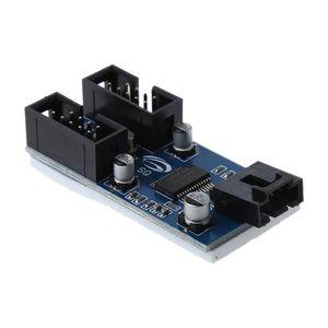 Image 5 - マザーボードのusb 9Pinインタフェースヘッダスプリッタ1 2に延長ケーブルエクステンダアダプタ9ピンusbハブ用pcコンピュータ