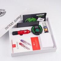 Dragonahawk Kit de máquina de tatuaje completo tatuaje tinta extrema cartucho agujas con LCD Mini tatuaje conjunto de fuente de alimentación