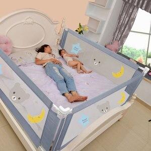 Image 5 - Kinderen Bed Barrière Hek Veiligheid Vangrail Security Opvouwbare Baby Thuis Kinderbox Op Bed Hekwerk Gate Wieg Verstelbare Kids Rails