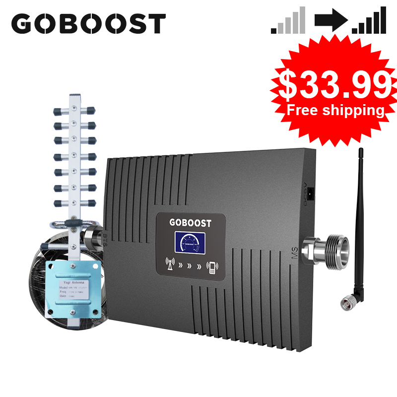 GOBOOST 3g 4g Signal Booster FDD LTE DCS 1800  AWS 1700 WCDMA 2100 PCS 1900 MHz Cell Mobile Phone Signal Amplifier Repeater Kits