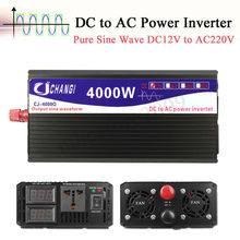 4000W Peak Dc 12V Naar Ac 220V Zuivere Sinus Omvormer Dual Display Thuis Converter Charger voeding Transformator Adapter