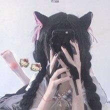 Lolita headwear cosplay kawaii gato orelhas bandana grampo de cabelo acessórios para o cabelo laços coelho orelhas designer bandana