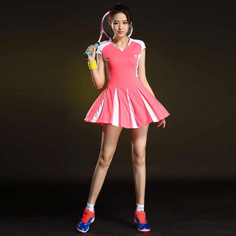 Sport Badminton Frauen Kleid Schnelle Trockenen Kurzarm Tisch Tennis frauen Anzug Tennis Kleid Sommer Jersey