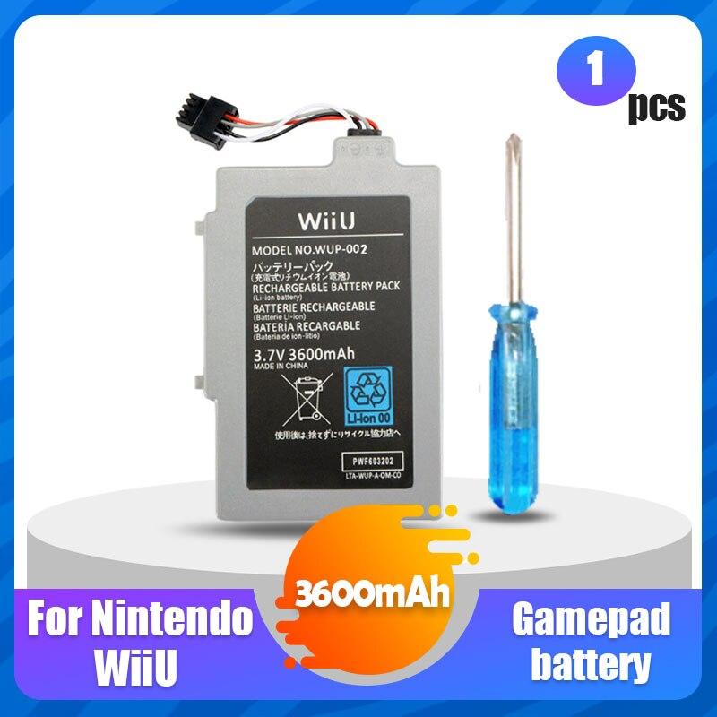 1 шт. 3,7 V 3600 мА/ч, Перезаряжаемые литий-ионный аккумулятор для Батарея пакет для Nintendo Wii U Wii-U Wii u пульт дистанционного управления Джойстик Акку...