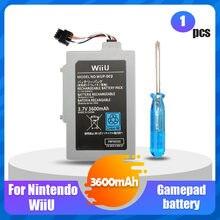 1 pces 3.7v 3600mah bateria de lítio recarregável li-ion para nintendo wii u wii-u wiiu controlador joystick gamepad bateria