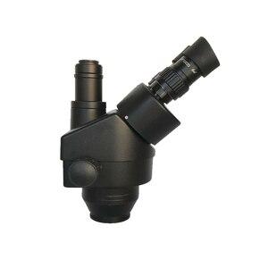 Image 4 - 7X 45X כפול בום זום Simul מוקד סטריאו Trinocular מיקרוסקופ 0.5X 2.0X עדשה אובייקטיבית 144 Led אורות טלפון PCB תיקון כלים