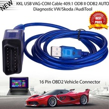 все цены на OBD2 USB Vag-Com Interface Cable KKL VAG-COM 409.1 OBD2 II OBD Diagnostic Scanner Auto Cable Aux USB Vag-Com interface cable онлайн