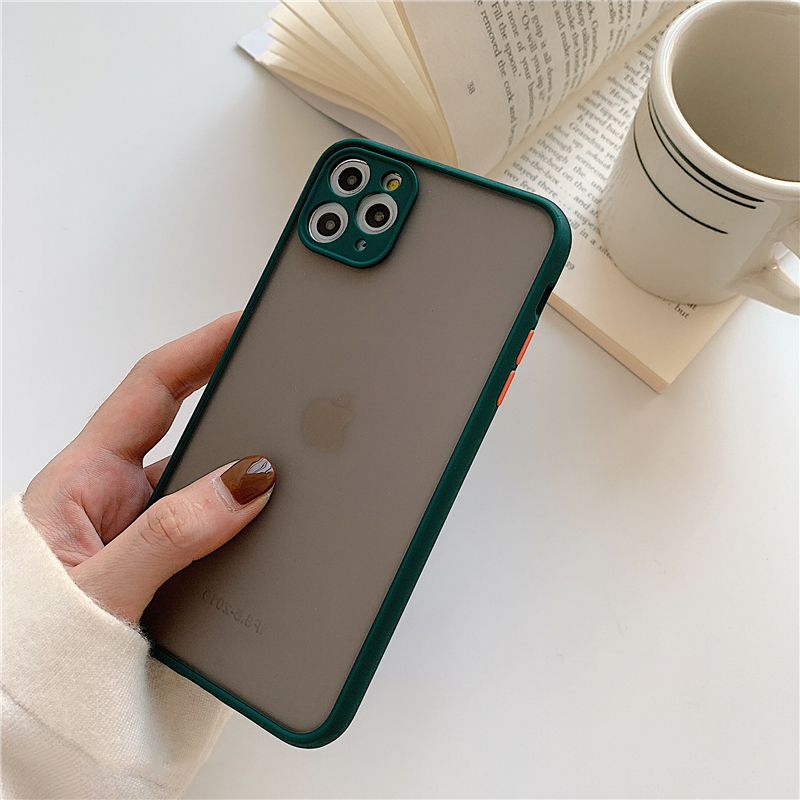 Matte Translucent Camera Protection Bumper Phone Cases For iPhone 11 11 Pro Max XR XS 15