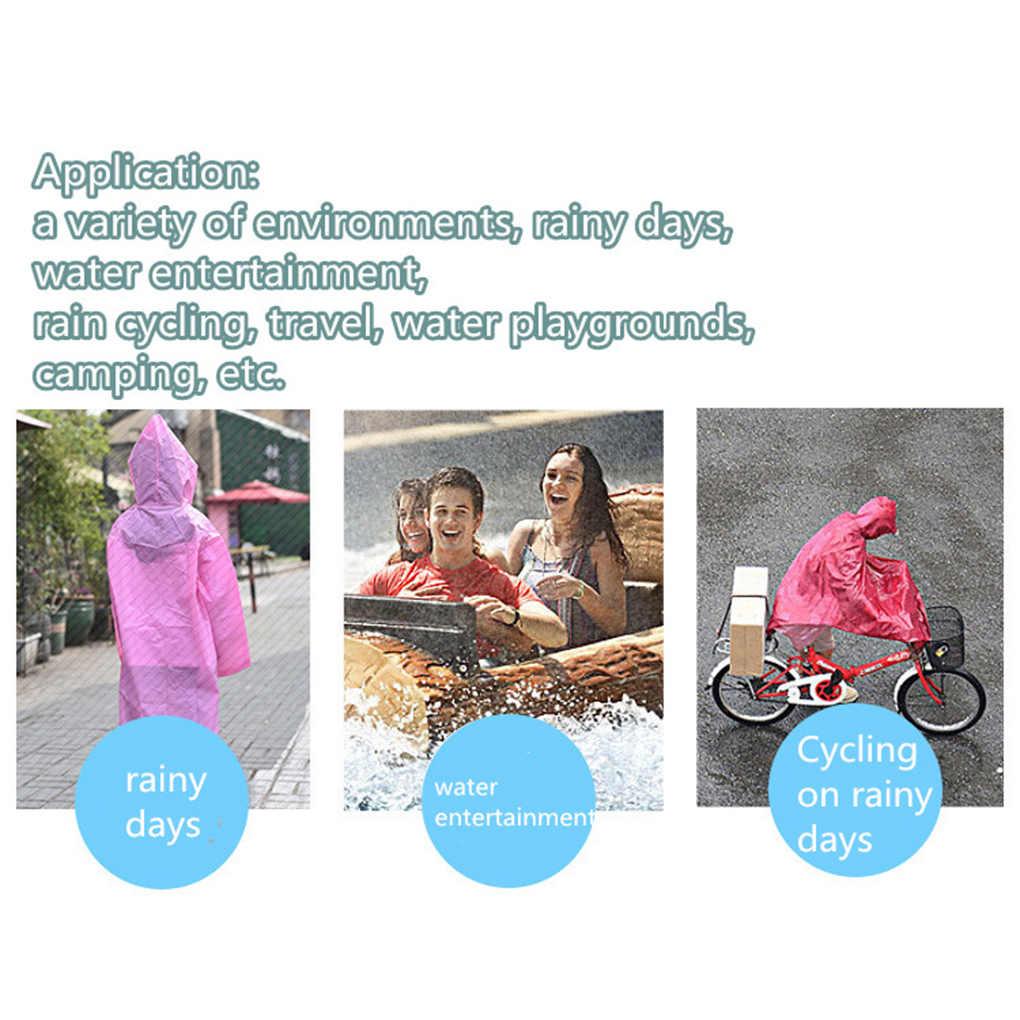 Portatile Per Adulti di Un Tempo Di Emergenza di Plastica PE Impermeabile Panno Impermeabile di Colore Casuale
