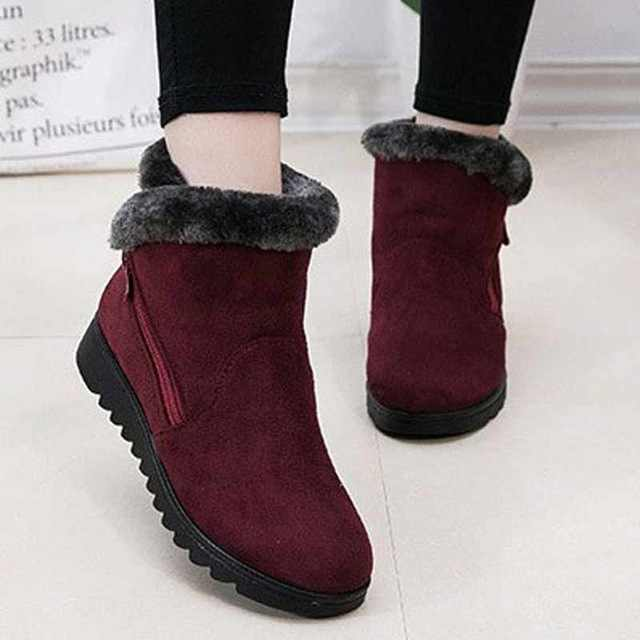 Winter Women Keep Warm Snow Boots 2019 Non Slip Casual Flat with Keep Warm women's Boots Shoes Ankle Boots Woman botas mujer