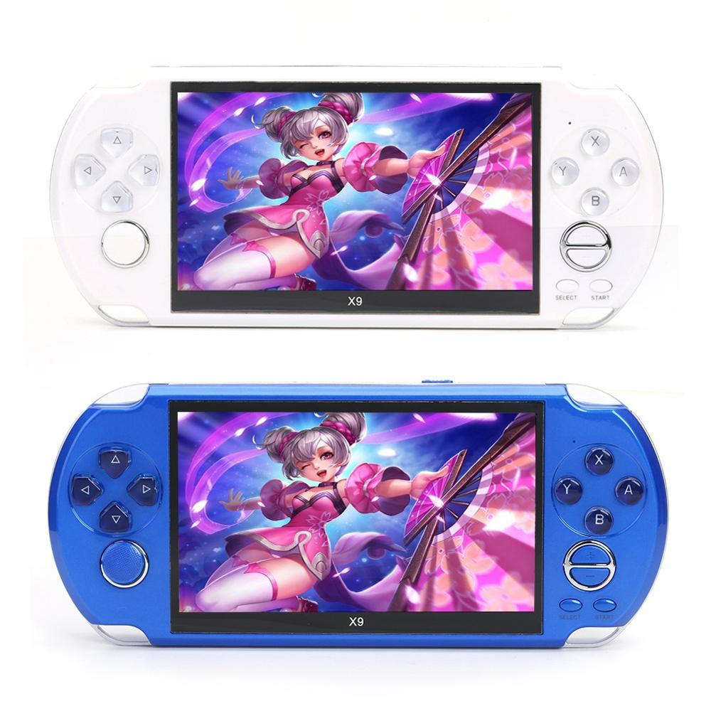 X9 5 inch Handheld Game Console 8GB Built-in 3000 Classic Games Console Large Screen Retro Video Game Player
