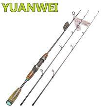 Yuanwei 1.8m 1.98 2.1 fiação vara de pesca 2 seção de carbono vara de pesca ul/l potência pesca de água salgada vara isca
