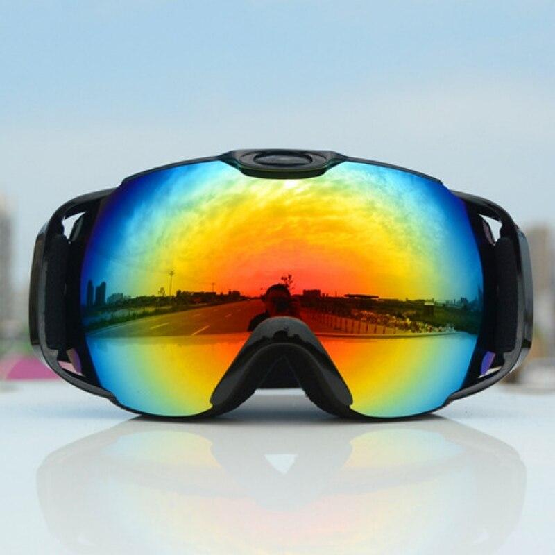 Men Women Anti-fog Skiing Eyewear Snow Goggles Double-layer Ski Glasses Spherical Lens Snowmobile Eyewear Sport Glasses Unisex