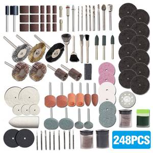 248PCS Rotary Tool Accessories for Easy Cutting Grinding Sanding Carving and Polishing Tool Combination For Hilda Dremel