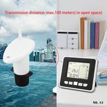 مقياس مستوى خزان المياه بالموجات فوق الصوتية ، مستشعر لاسلكي ، مقياس مستوى الموجات فوق الصوتية ، شاشة LED ، مستشعر درجة الحرارة ، أدوات قياس ال...