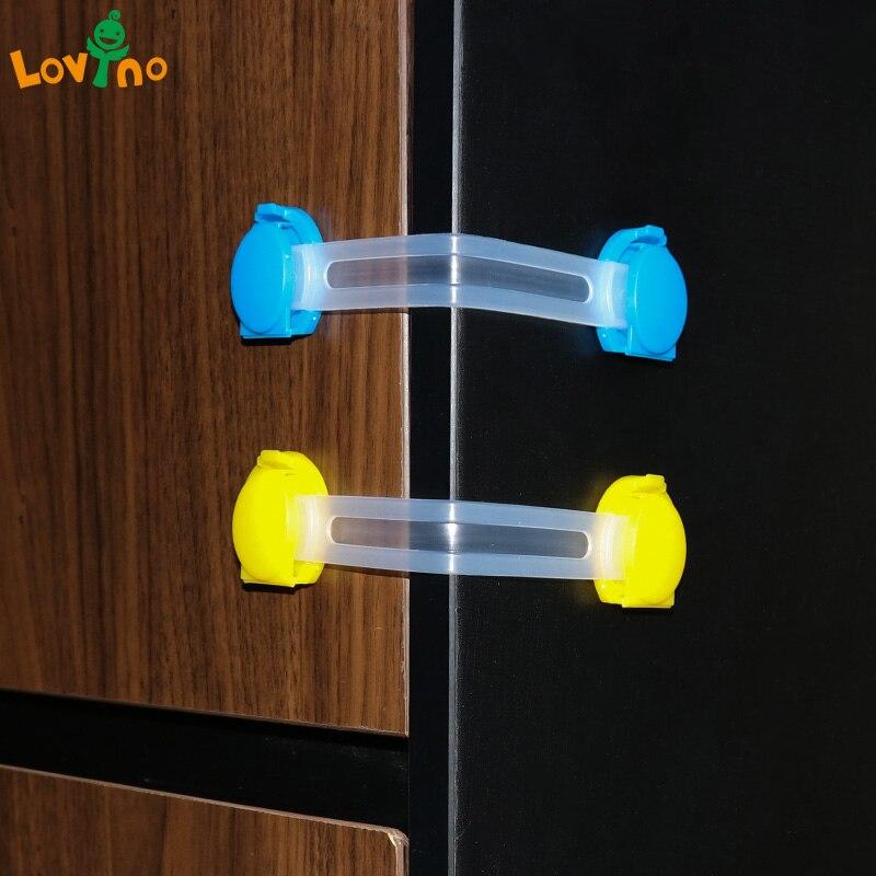 5pcs/lot baby safety child lock refrigerator drawer for cabinets locker sliding door fridge protection of children locking doors