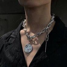 KMVEXO Punk Hip Hop Unisex Earth Pendant Necklaces for Women