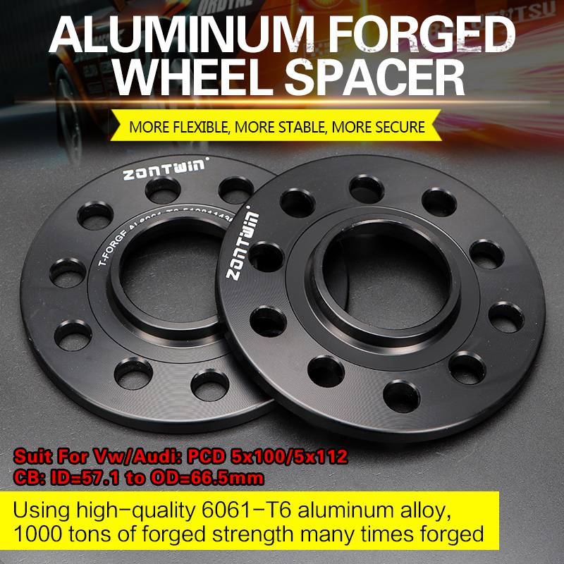 2/4PCS 3/5/8/10/12mm Wheel Spacers Conversion Adapters PCD 5x100/5x112 CB: ID=57.1mm To OD=66.5mm Suit For Vw/Audi Car