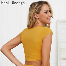 Female Sport Top Jersey Woman T-shirt Crop Yoga Gym Fitness Sleeveless Vest Singlet Running Training Clothes for Womem