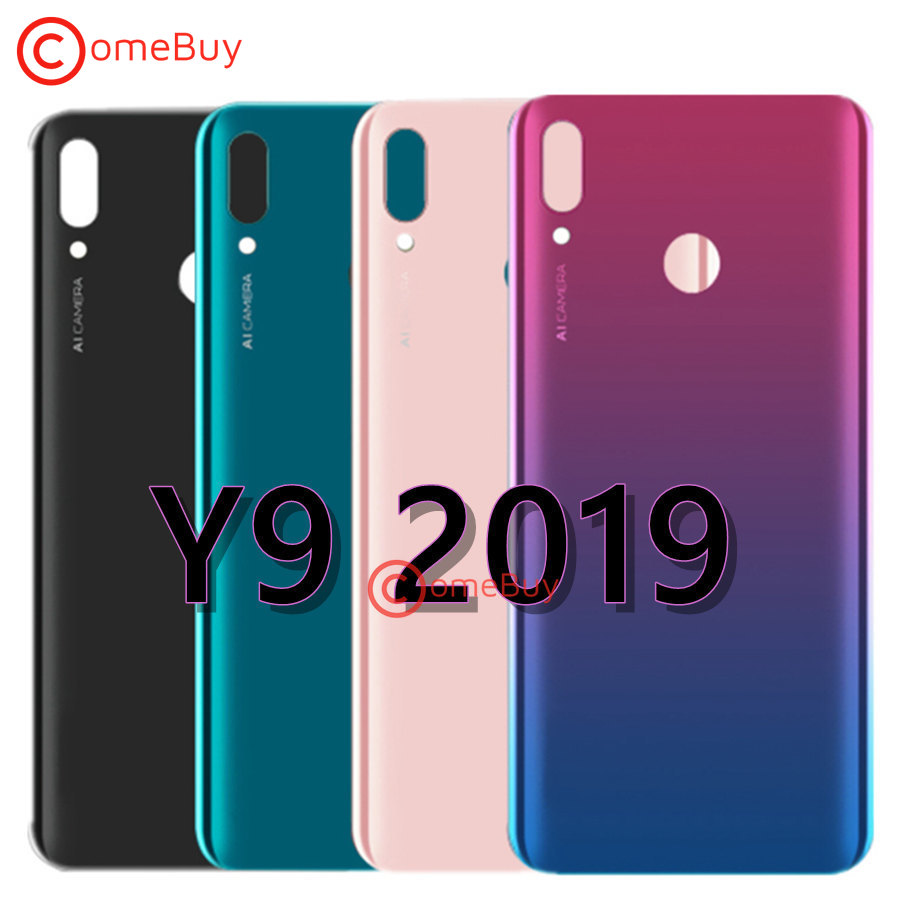FOR Huawei Y9 2019 Battery Cover Rear Door Housing Back Case For Huawei Y9 2019 Battery Cover JKM LX1 LX2 LX3 Replacement