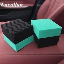 Lucullan High Density Waxing Sponge Wondering Wave Durafoam Contoured Large Tire Dressing Applicator Pad