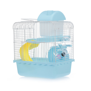 Hamster Cage Portable Carrier Two-Story Hamster Habitat with Hamster Wheel Water Dispenser for Hamster Mouse Small Pets 2
