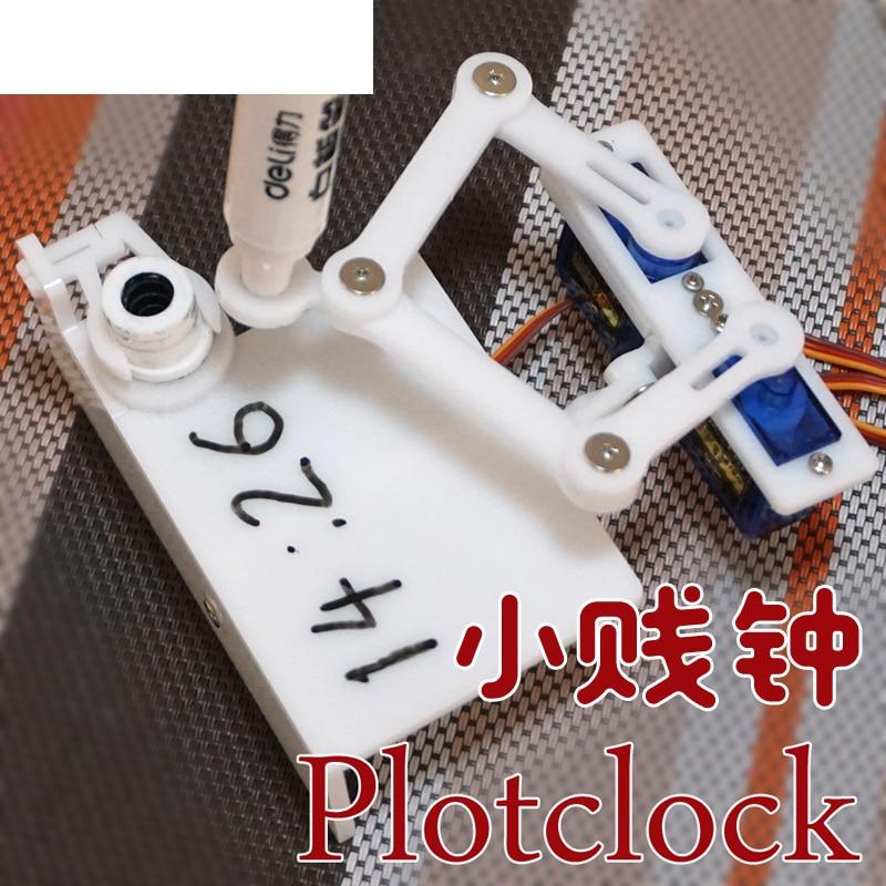 Open Source Arduino Plotclock Small Base Clock Manipulator Writing Drawing Diy Robot Maker Pragramming STEM Toy Parts