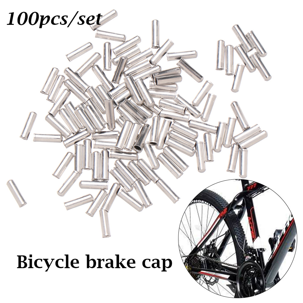50 X Bicycle Bike Inner Wire Gear Shifter Brake Cable End Cap Crimp Tip Ferrule