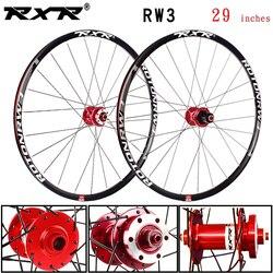 RXR-jeu de roues de bicyclette de vtt en alliage d'aluminium RW3 de 29 pouces, frein à disque, 5 roulements, 7-11 vitesses, axe Thru/roue de bicyclette QR
