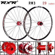 RXR mountain bike MTB  bike wheelset Aluminum alloy 29 inches RW3 Disc Brake 5 Bearings 7-11speed Thru Axle/QR Bicycle Wheel стоимость