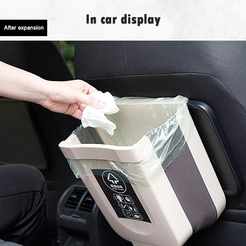 1pc Portable Hang Storage Box Car Garbage Accessory Holder Automatically Opening