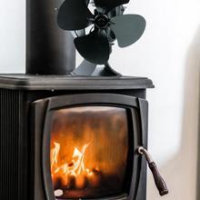 Fireplace Fan Heat Powered Stove Fan Wooden Furnace Fan Home Accessories