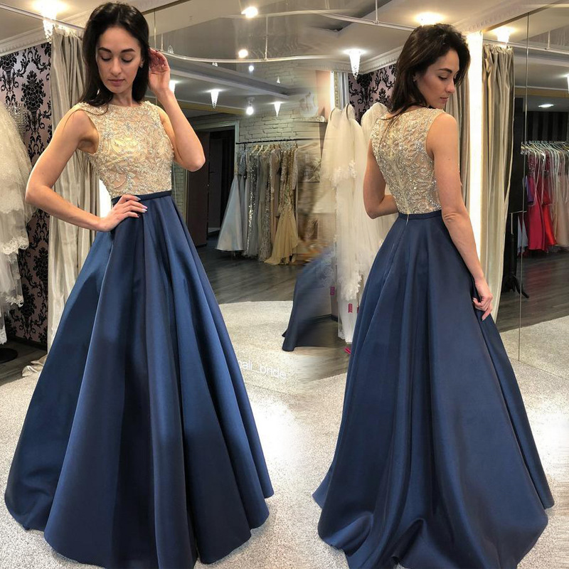 2018 Europe And America Autumn And Winter Foreign Trade New Style Dress Wish Amazon Hot Selling Sleeveless Bronze Formal Dress S